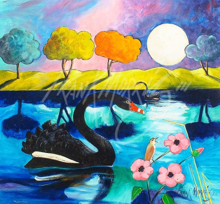 (Y670) Moonrise  76x82 cm  SOLD