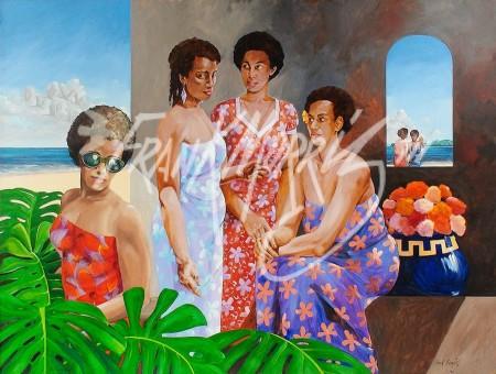 (KY369) The Gossips 91.7 x 122 cm $550