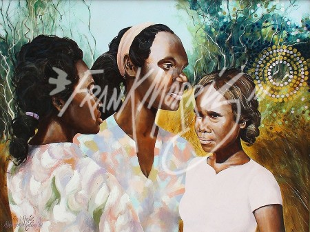 (K924) Three Young Girls 61 x 82 cm $390