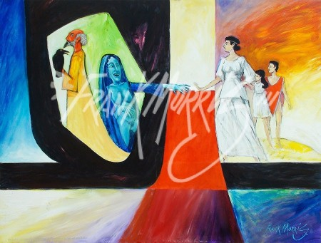 (Y613) Nephele's Children are Threatened 91 x 121 cm $450