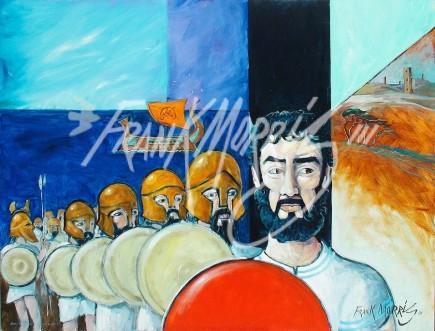 (Y608) 91 x 121 cm Jason Lands the Argonauts on Colchis $425