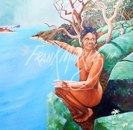 (Y492) Mulloka! (Water Devil) 81 x 82 cm$375