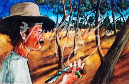 (Y558)John Gilbert Holds Paradise 184460x89cm$250