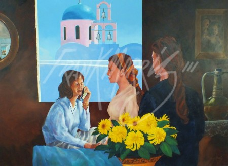 (KY368)  Phone call from Greece  78x108 cm $450