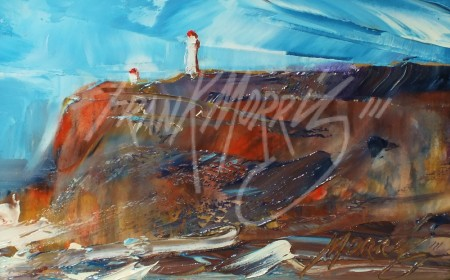 (YPK179)  Rough Weather, Cape Nelson  10x15 cm $125