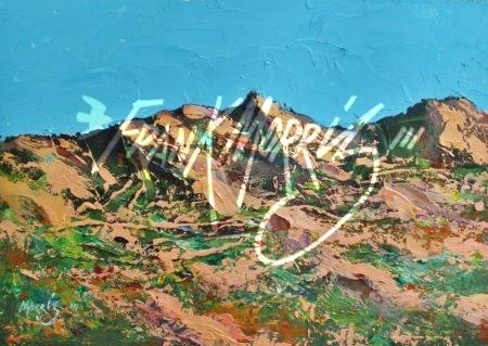 (YPK256)  Kimberley Hills  21x31 cm  $80