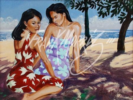(KY381) Morning on the Beach 20 x 26 cm $147.50