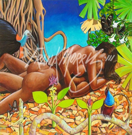 (Y723) 101.6 x 101.6 cm A Moment in a Cape York Afternoon $750