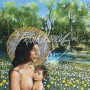 (KY915) Joseph and Mary Dreaming 91 x 162 cm (Left panel) $650