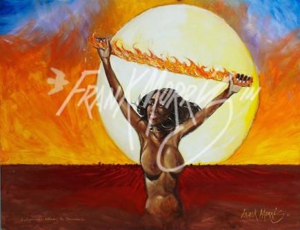 (Y619) Wurupranala Became the Sunwoman 91.5 x 121.5 cm $350