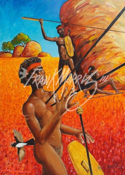 (Y701) Bahmai's First Battle is His Last 110 x 80 cm $350
