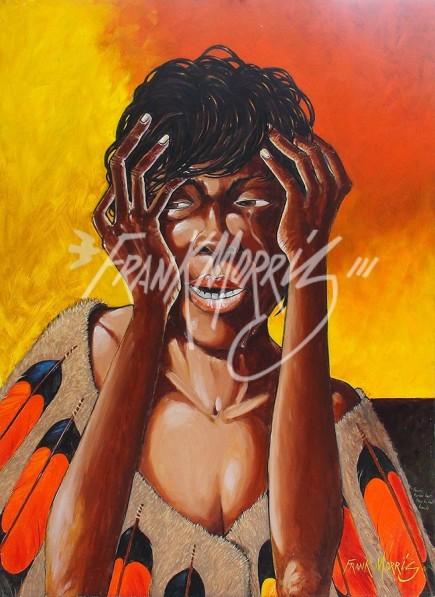 (Y703) 122 x 90 cm Krubi Buries Her Face in Her Hands $400