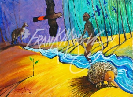 (Y709) New Life Shoots From the Moist Earth 80 x 110 cm $400