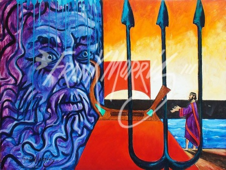 "(Y623) Now King, Jason Dedicates the ""Argo"" to Neptune 91.5 x 121.5 cm $400"