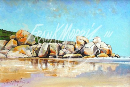 (Y774) Low Tide at the Prom 26.5 x 39 cm