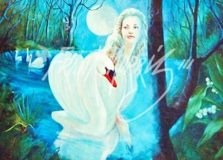 (Y504) 90 x 120 cm Prince Siegfried Sees the Swan Transformed $500