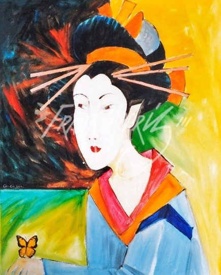 (Y667)Geishi (Lio-Lio San)76x61cm$200