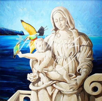 (Y575)Mother & Son81x82cm$340