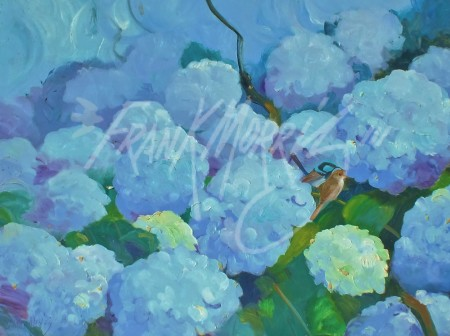 (Y451)  Summer Blues  61x80 cm $350